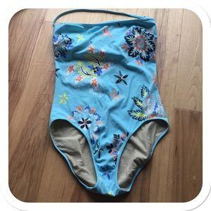 J. Crew Floral 1 Pc Swimsuit